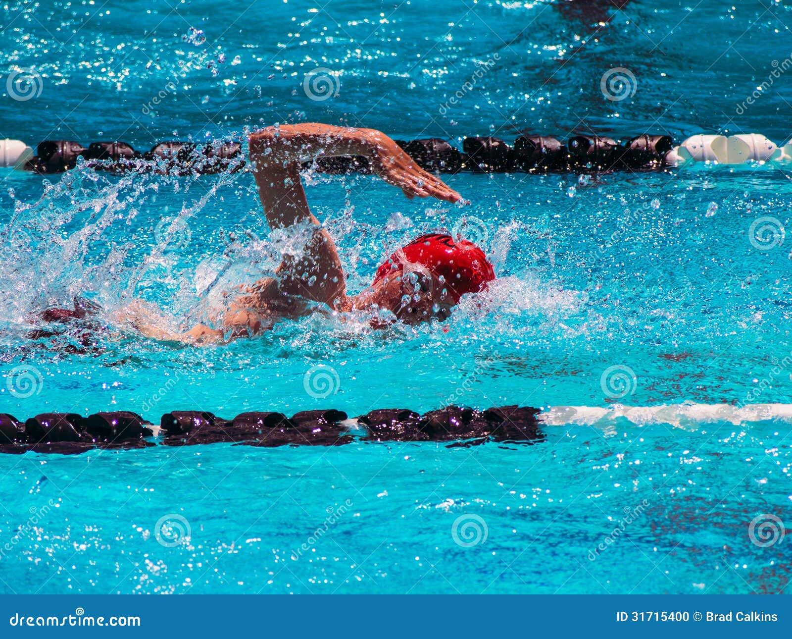 Freistilschwimmenhitze