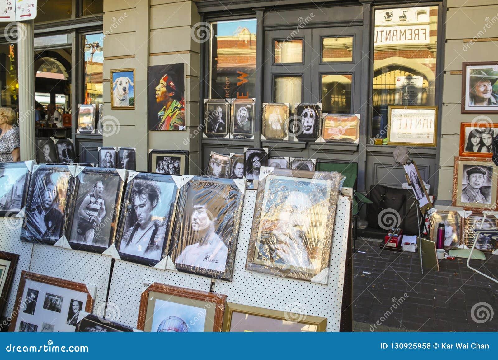 Fremantle, zachodnia australia - 2011: portretów obrazy sławne osobistości