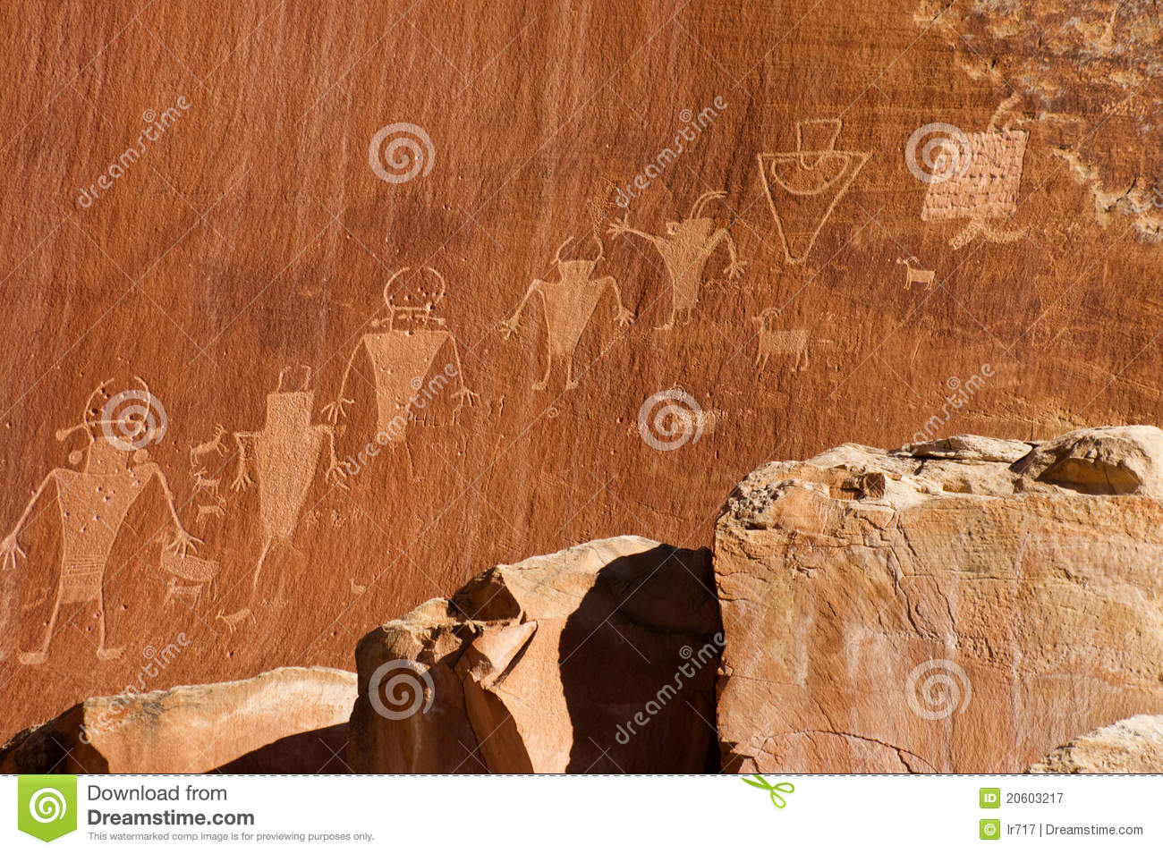 Fremont Indian Culture Petroglyph Royalty Free Stock