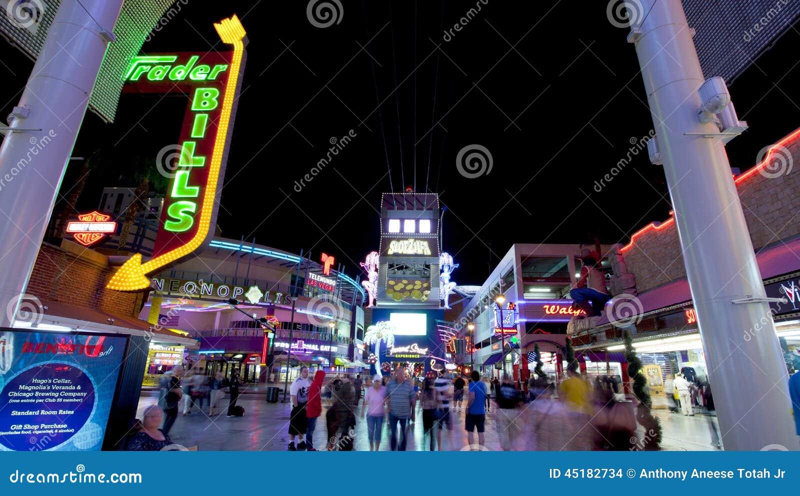 Fremont Street Las Vegas Nevada Editorial Stock Image Image Of
