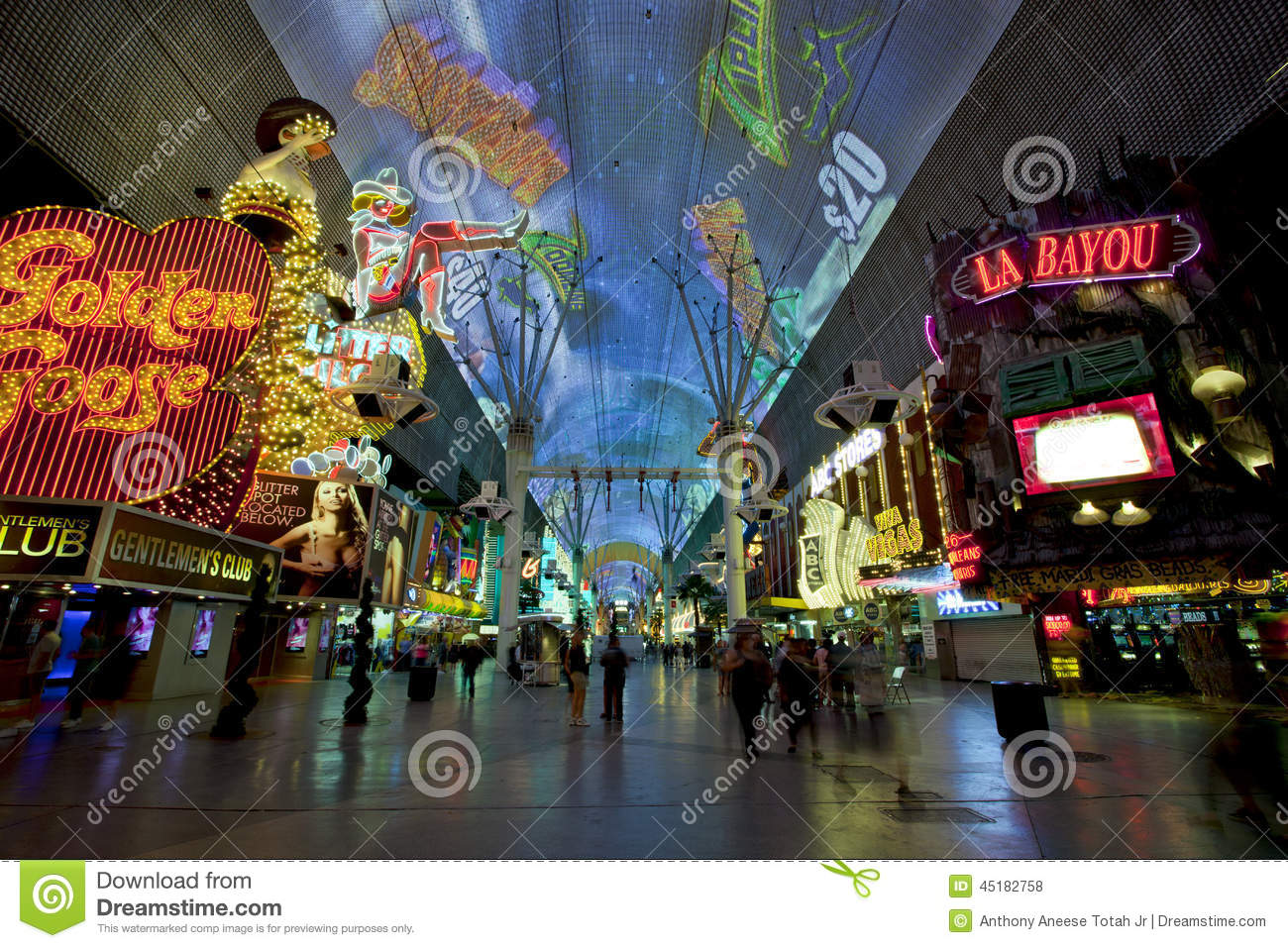 Fremont Street Las Vegas Nevada Editorial Stock Photo
