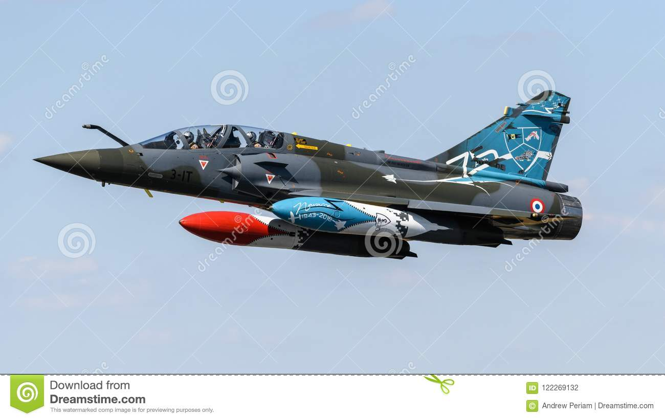 French Air Force Dassault Mirage 2000 Aircraft Editorial