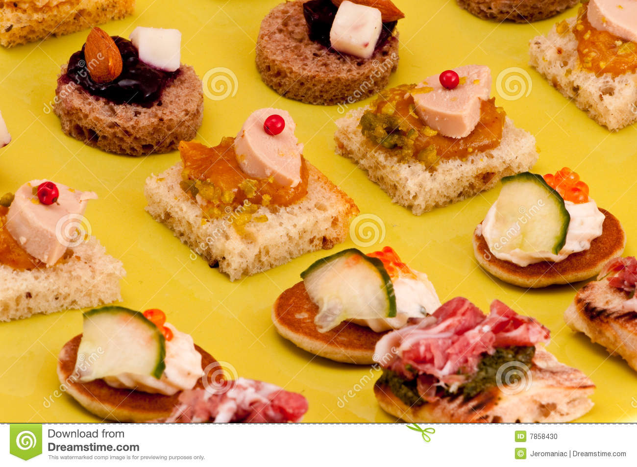 French appetizer stock photo image 7858430 for French canape menu