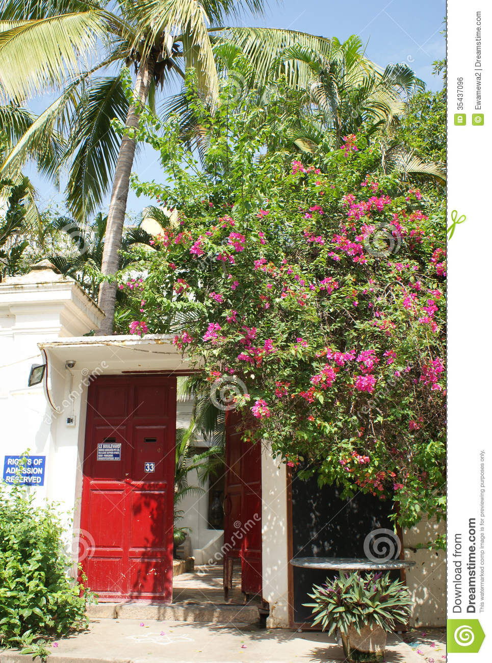 French Architecture In Pondicherry India Editorial Photo Image 35437096