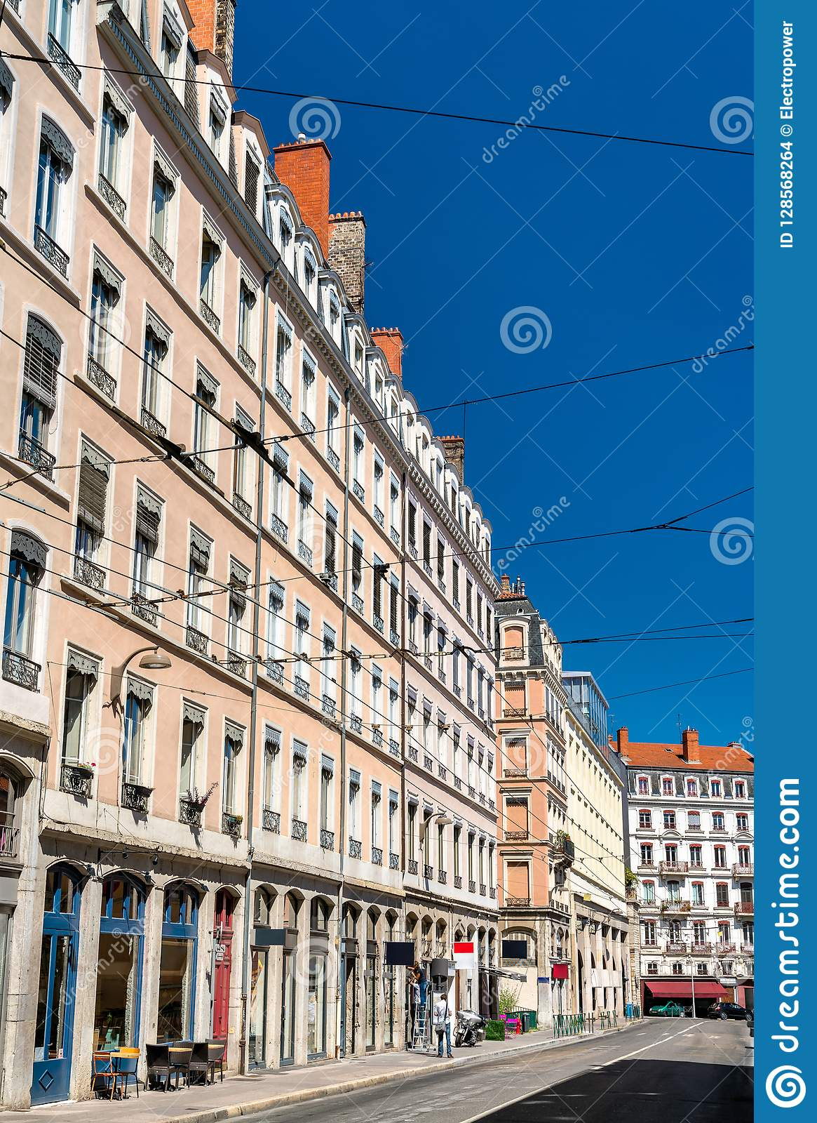 French Architecture In The 1st Arrondissement Of Lyon Editorial ...