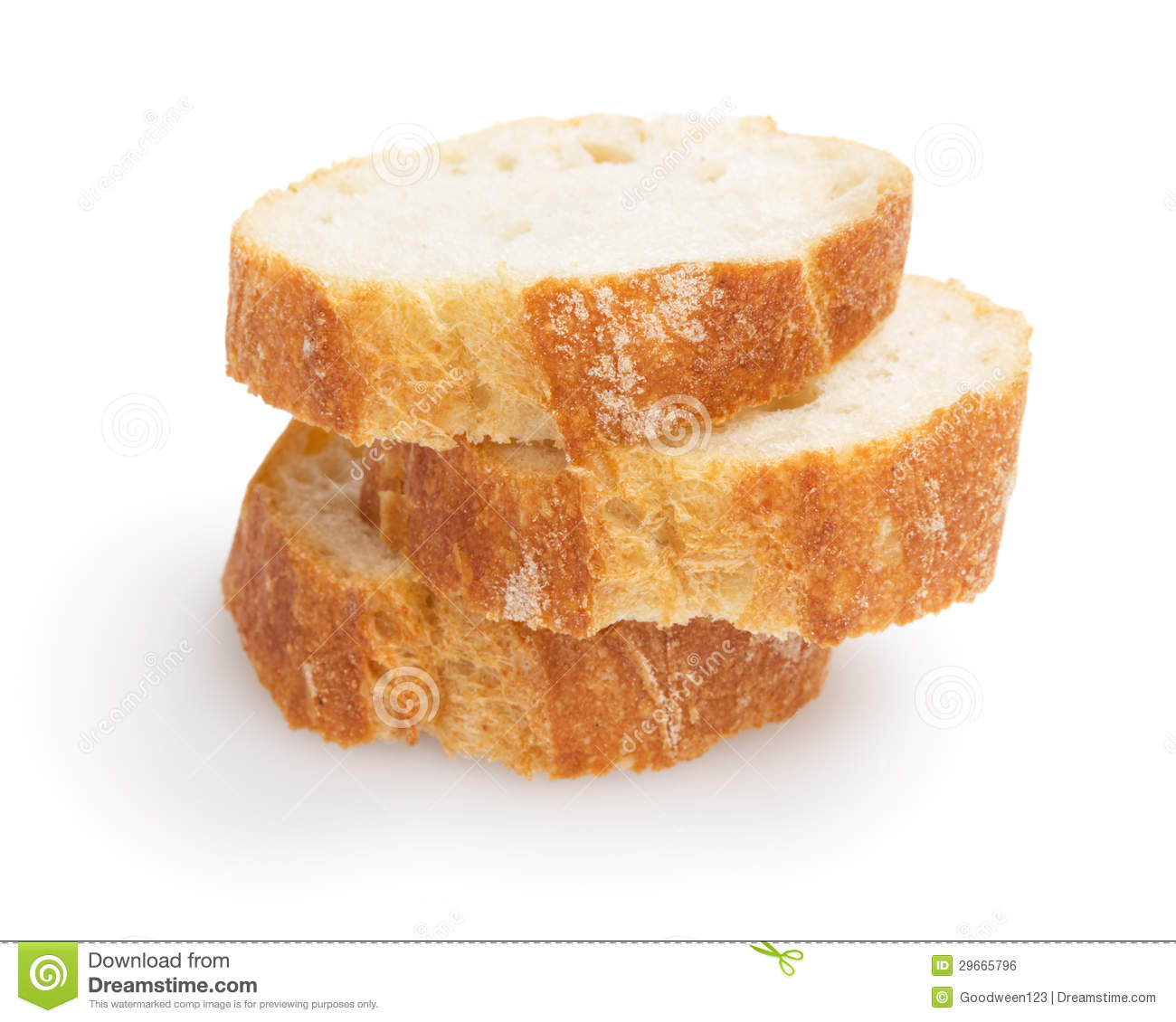 French Baguette Slices Stock Photo Image Of Section