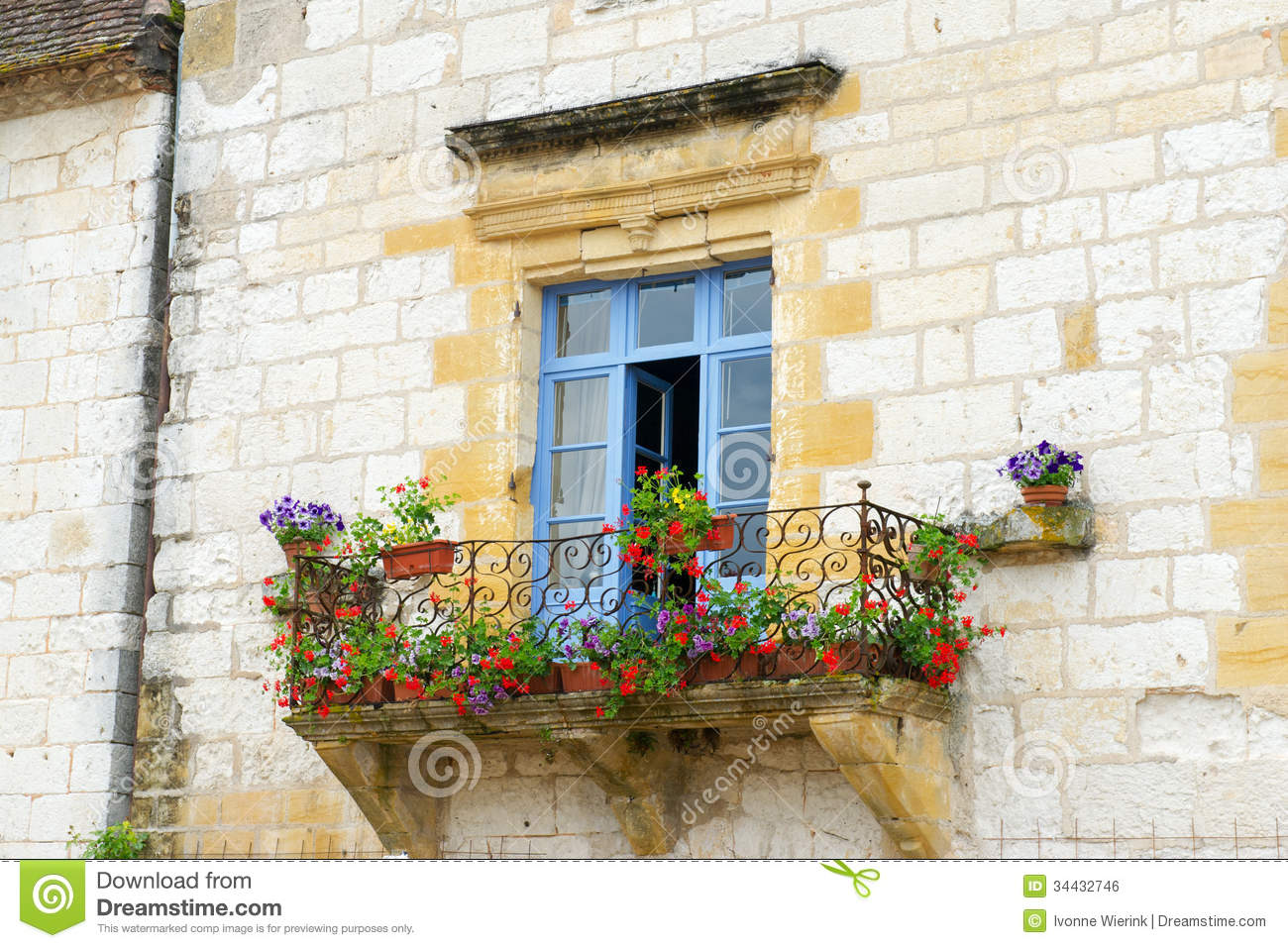 French balcony stock photo image of outdoor house blue for What is a french balcony