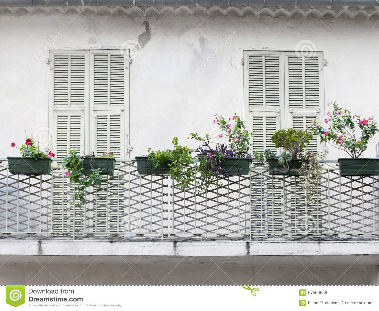 French balcony with shutters stock photo image 57554658 for Balcony french