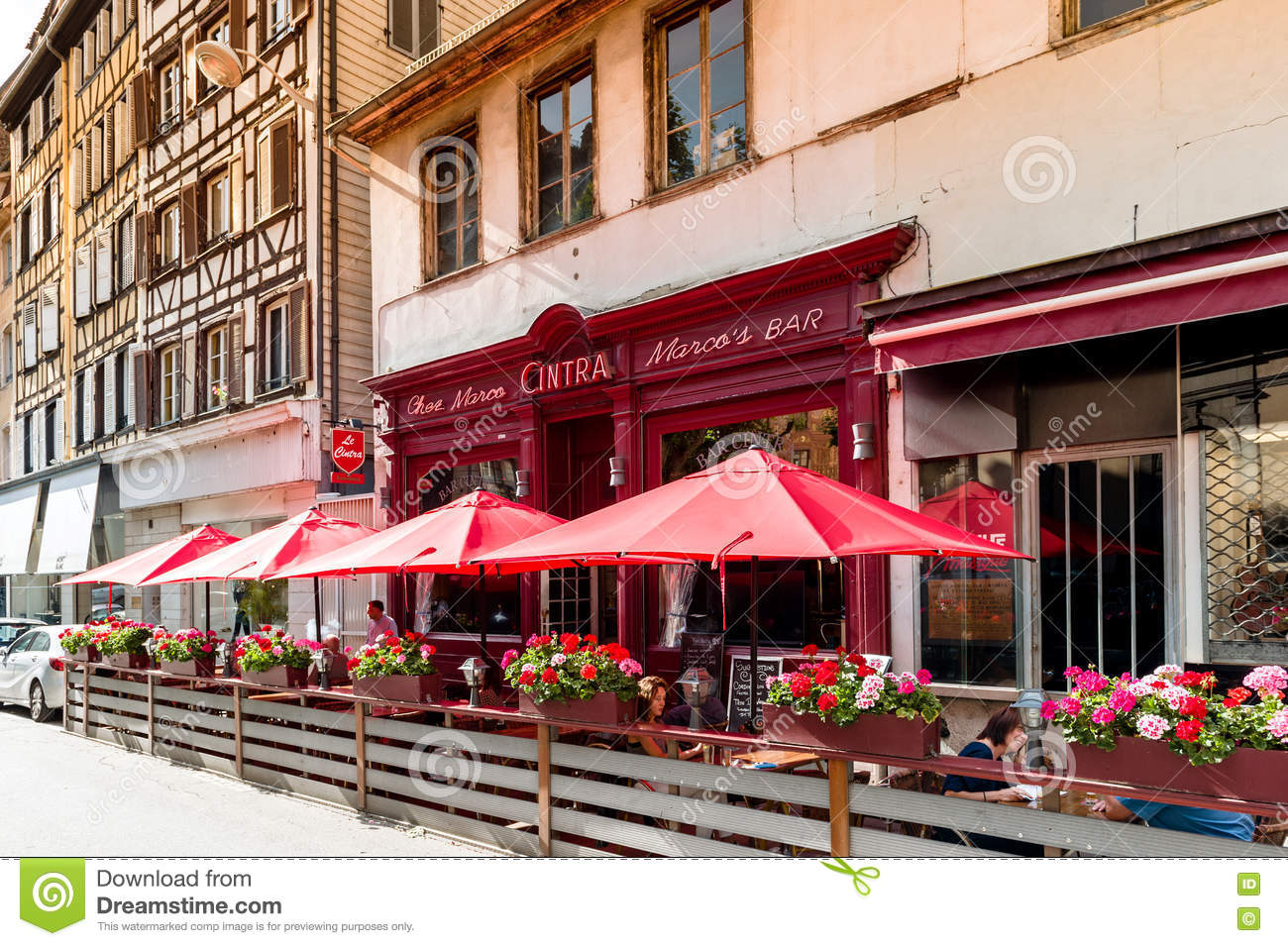 French Bar Chez Marco In Central Strasbourg Editorial Photography ...