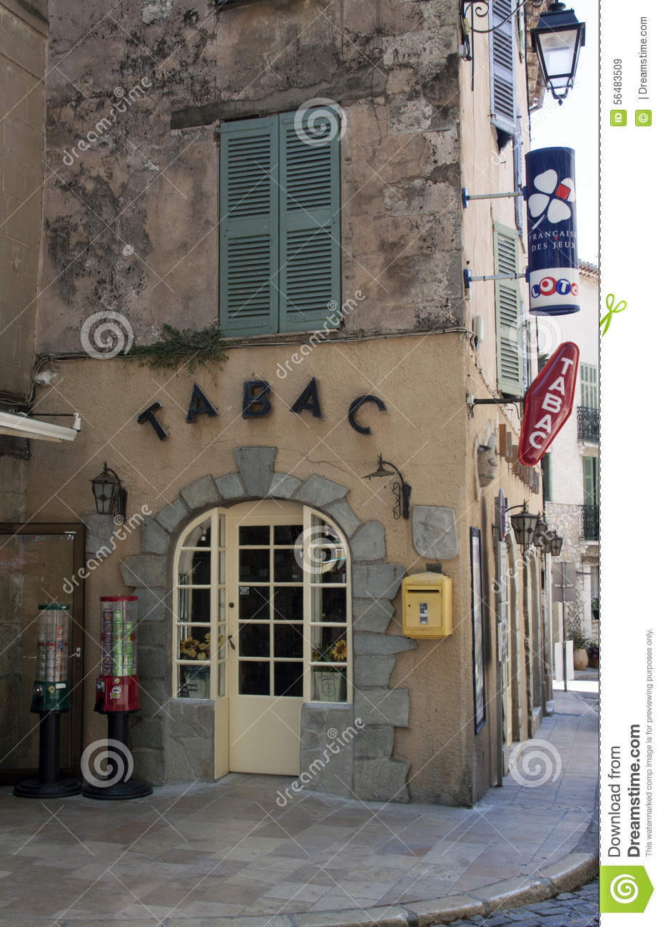 french bar tabac shop in avignon editorial stock image image of tourism wall 56483509. Black Bedroom Furniture Sets. Home Design Ideas