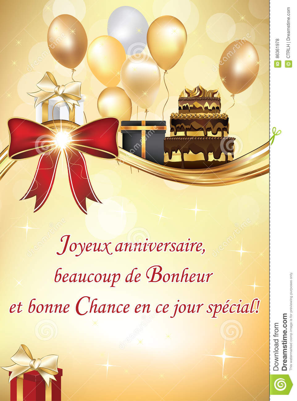 French birthday greeting card stock vector illustration of french birthday greeting card kristyandbryce Gallery