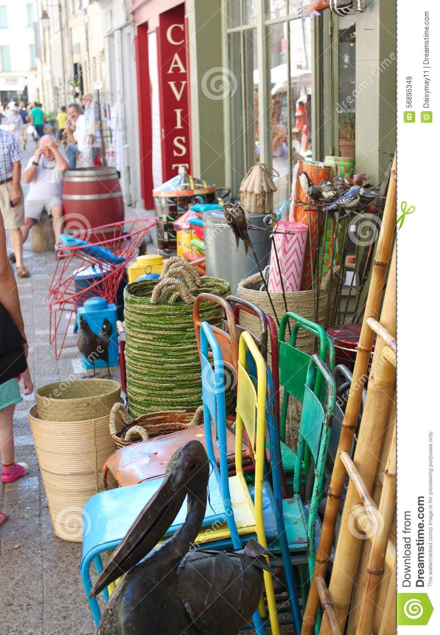 French bric a brac shop editorial stock image. Image of ...