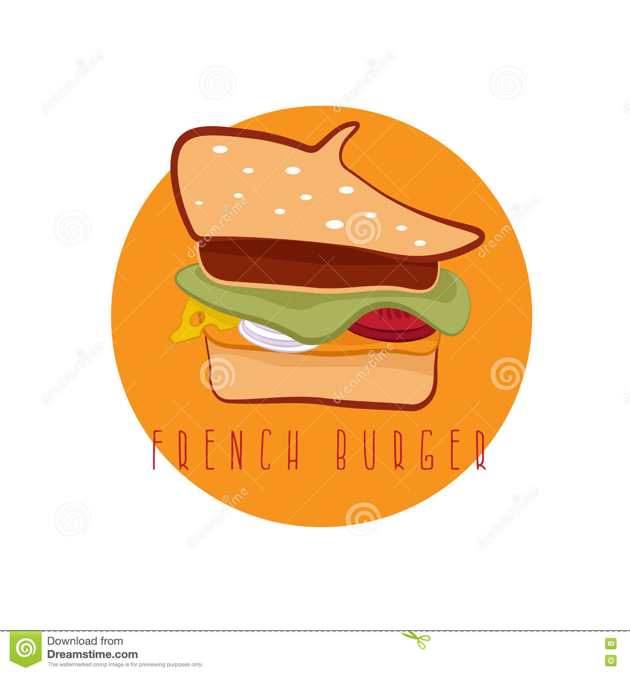 a13aa4a8e7b French burger concept with beret vector design template stock vector jpg  1300x1390 Clipart french beret hats