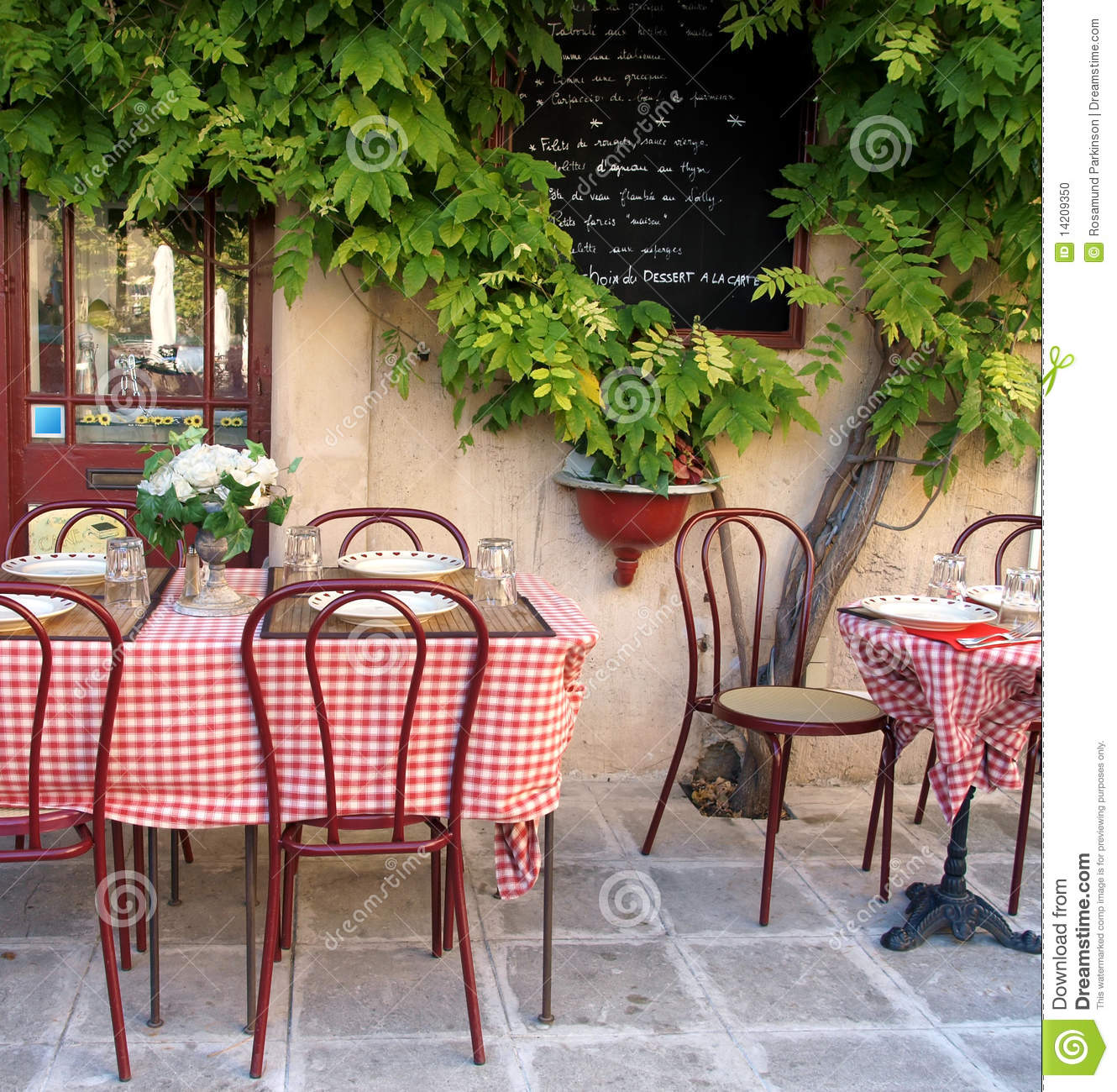 French Cafe In Provence Stock Photo Image 14209350