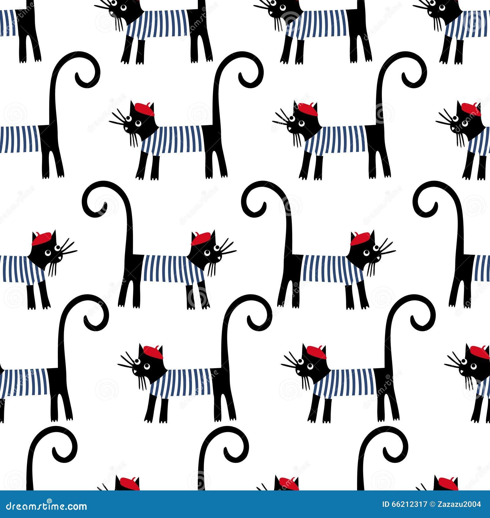 French Comic Black Cat
