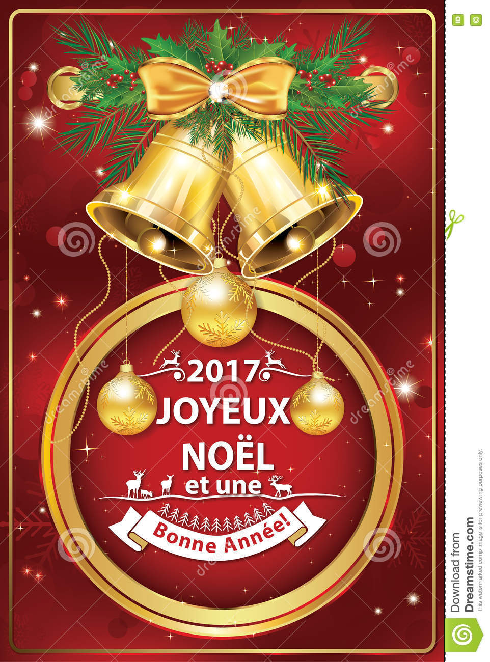 French christmas and new year business greeting card stock french christmas and new year business greeting card m4hsunfo Images
