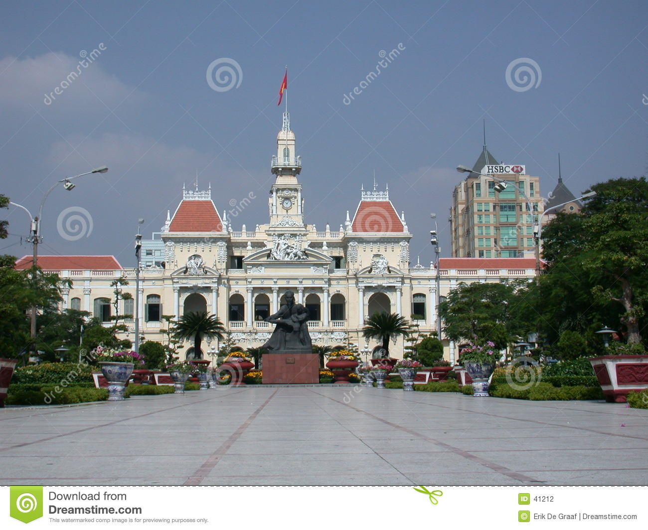 French colonial building Vietnam