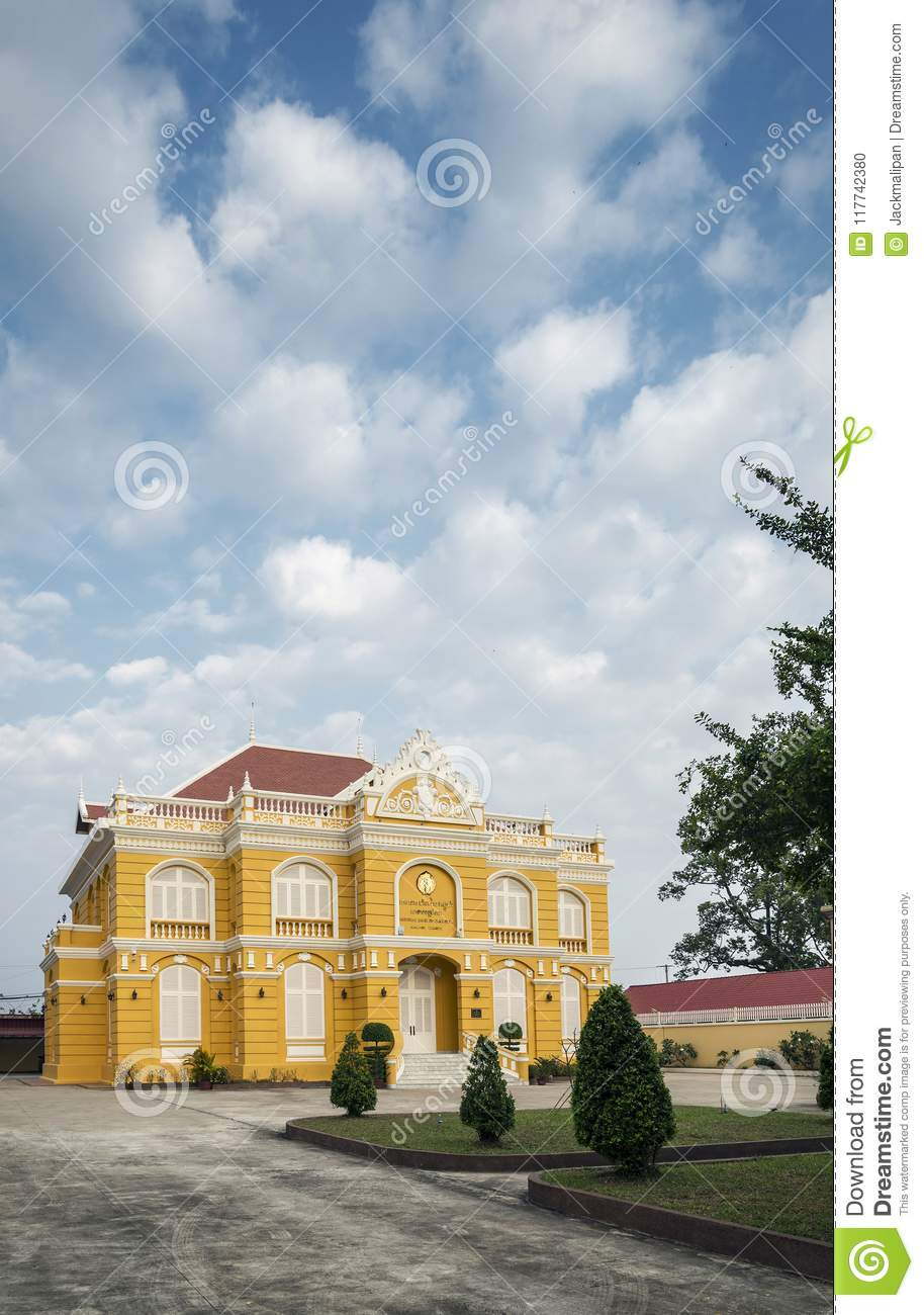 French Colonial Style Architecture House In Kampot Old Town Cambodia