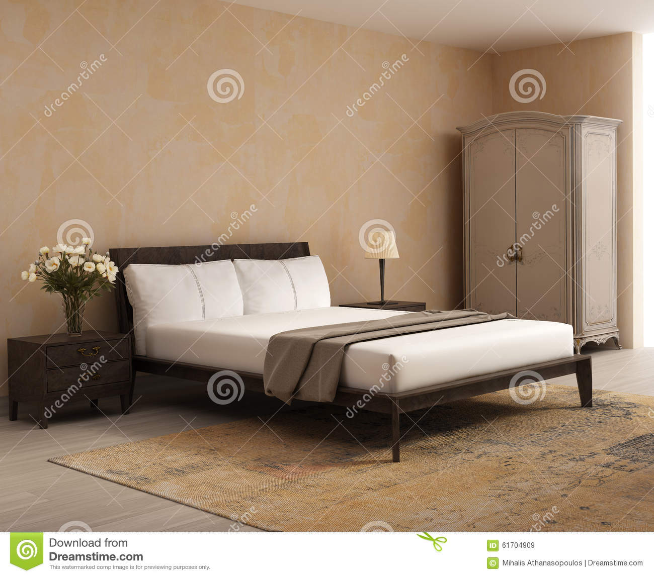 French Cottage Style Bedroom A Romantic Interior Stock Image ...