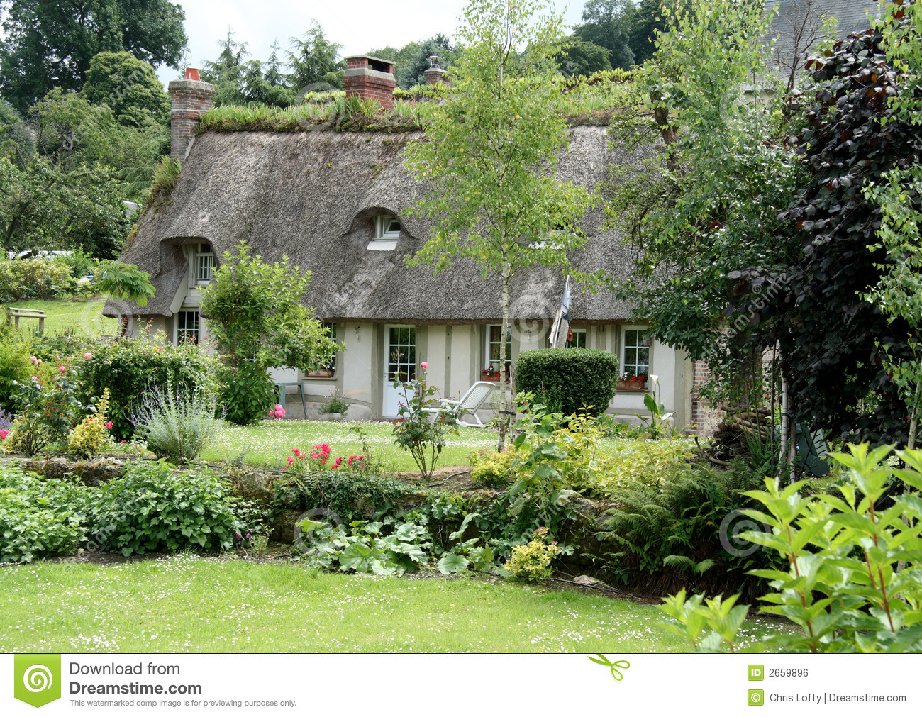 French country cottage stock photo image of normandy for The cottage house