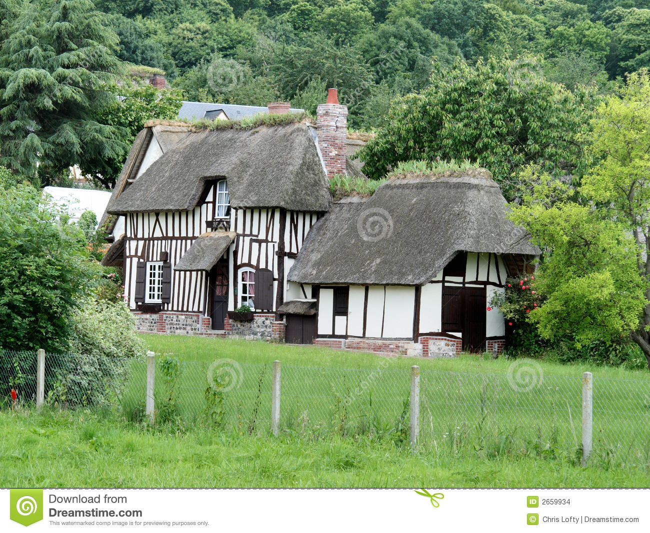 French Country Cottage stock photo. Image of nature