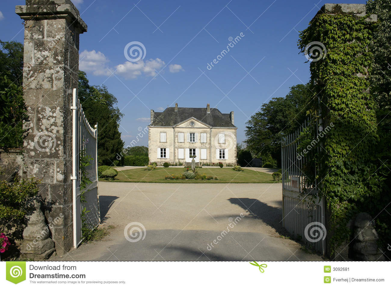 French Country House Stock Image Image 3092681