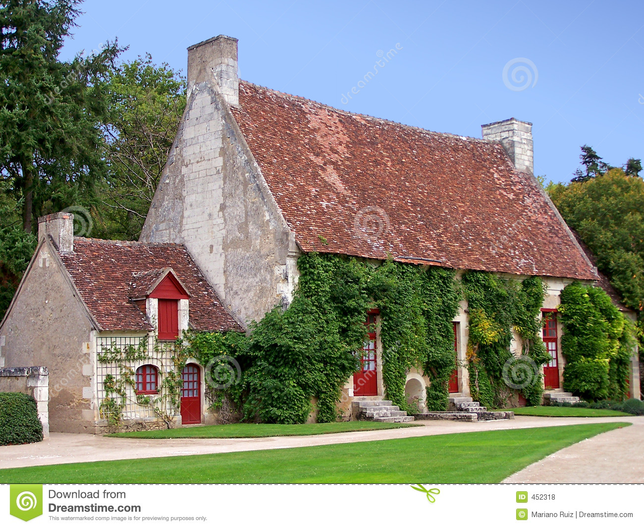 French country house stock photo image of buildings for Planimetrie di cottage francesi