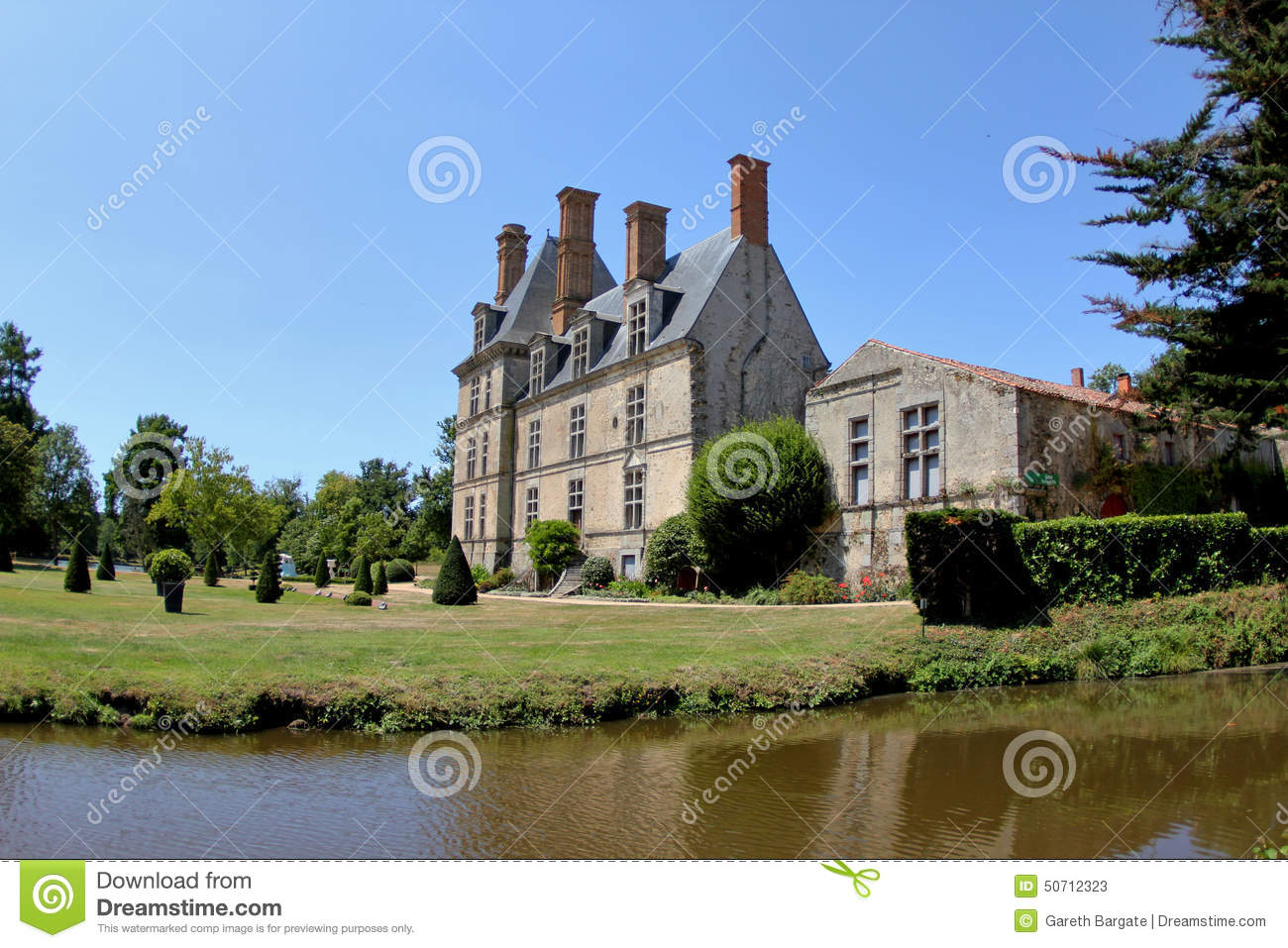 French Countryside Chateau Stock Photo Image - French country side