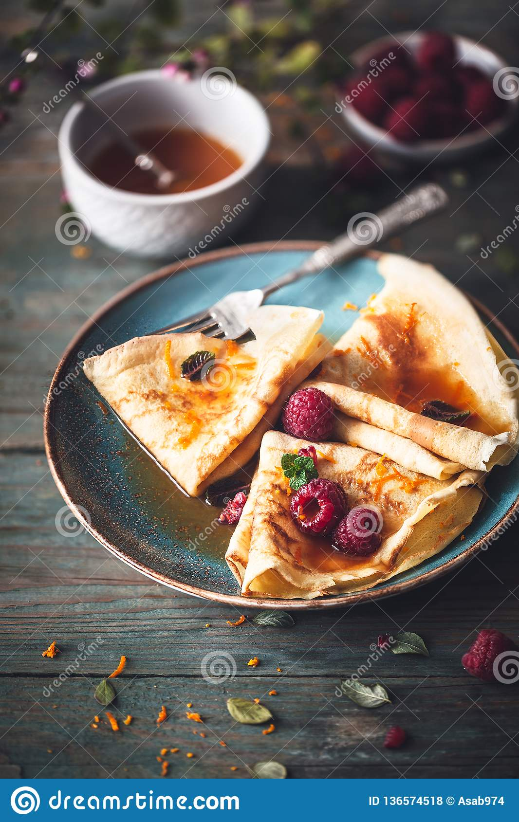 French Crepe Suzette for Chandeleur