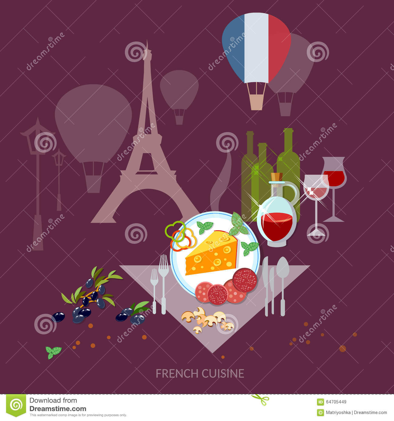 french cuisine and culture france food french wine and cheese stock