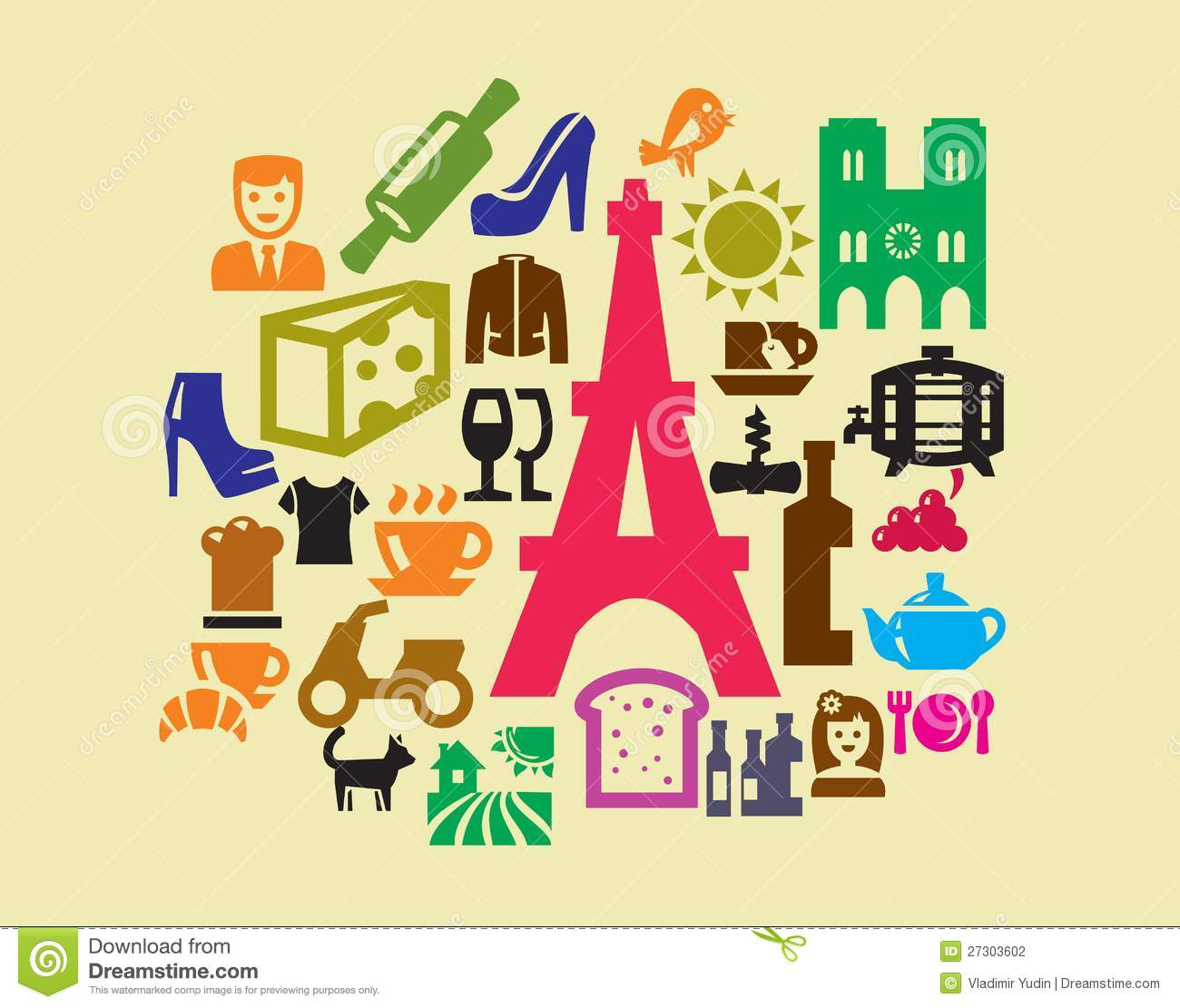 French Culture Icons Stock Photography  Image: 27303602