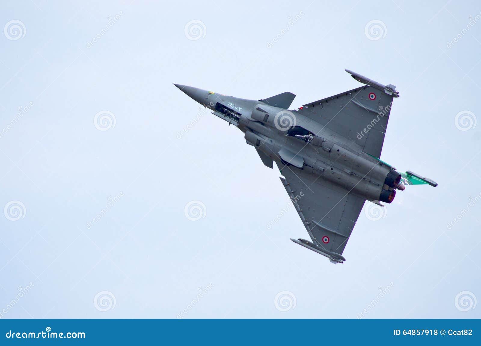 French Dassault Rafale Fighter On Radom Airshow, Poland