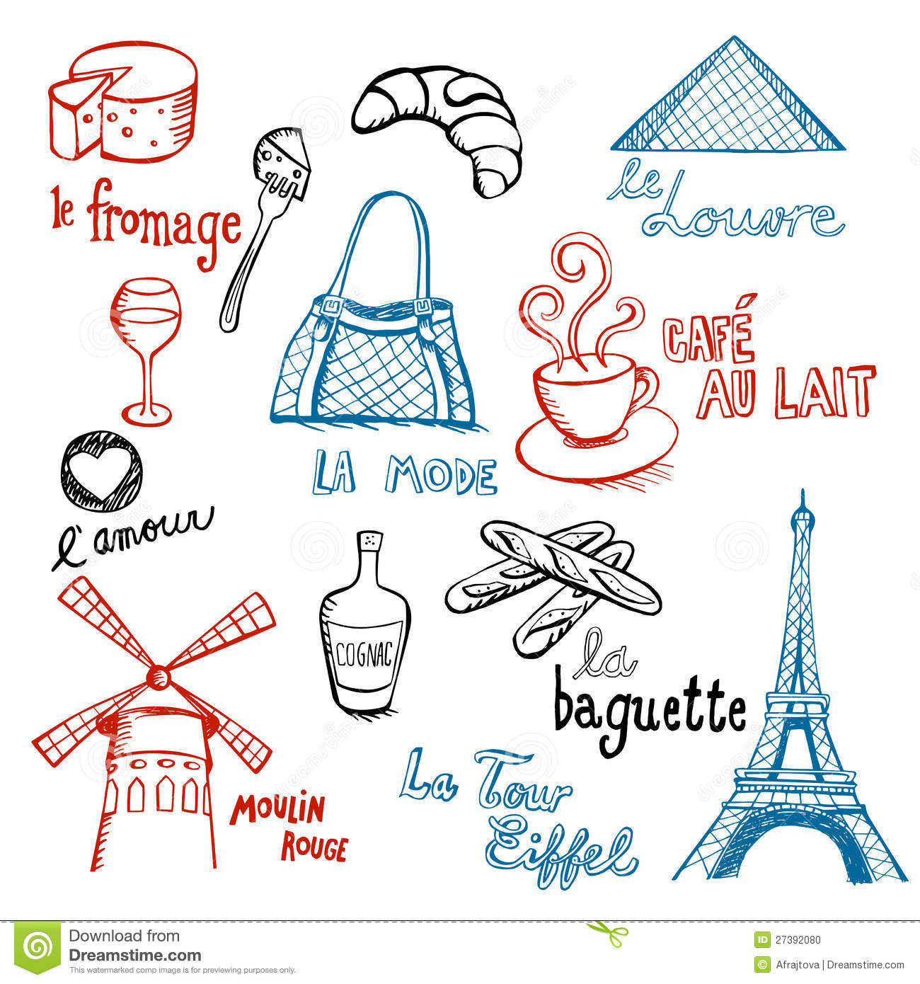 French Doodles Stock Photo - Image: 27392080