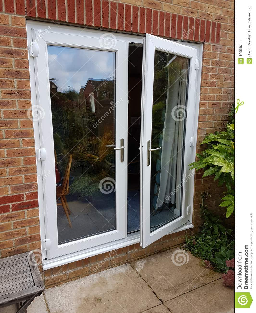 French Doors Stock Image Image Of Patio Doors Modern 100946111