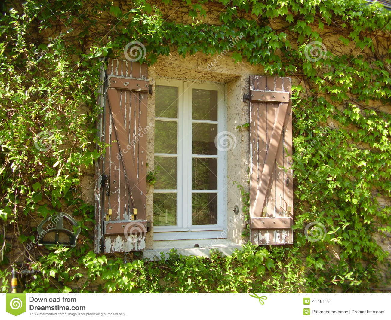 French Farmhouse Window Amp Shutters Stock Image Image