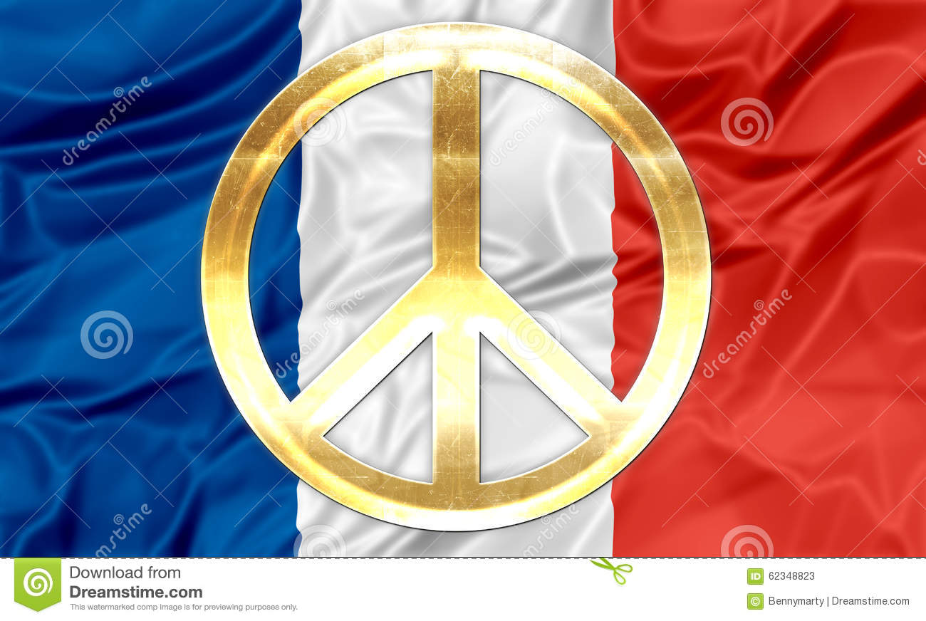 French flag with peace symbol stock illustration illustration of french flag with peace symbol biocorpaavc