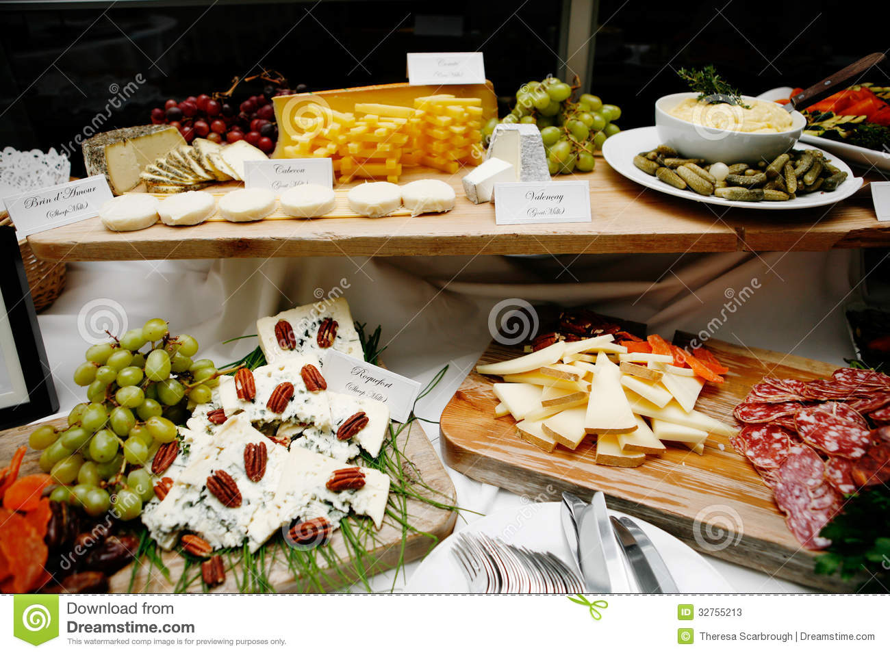 French Food Buffet Stock Image Image Of Fruit Brie