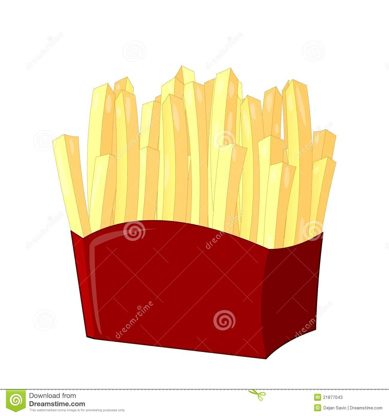 Download French fries stock illustration. Illustration of fries - 21877043