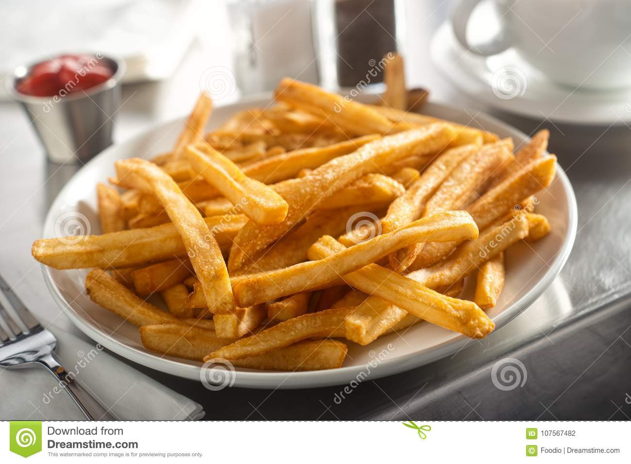 French Fries in a Diner