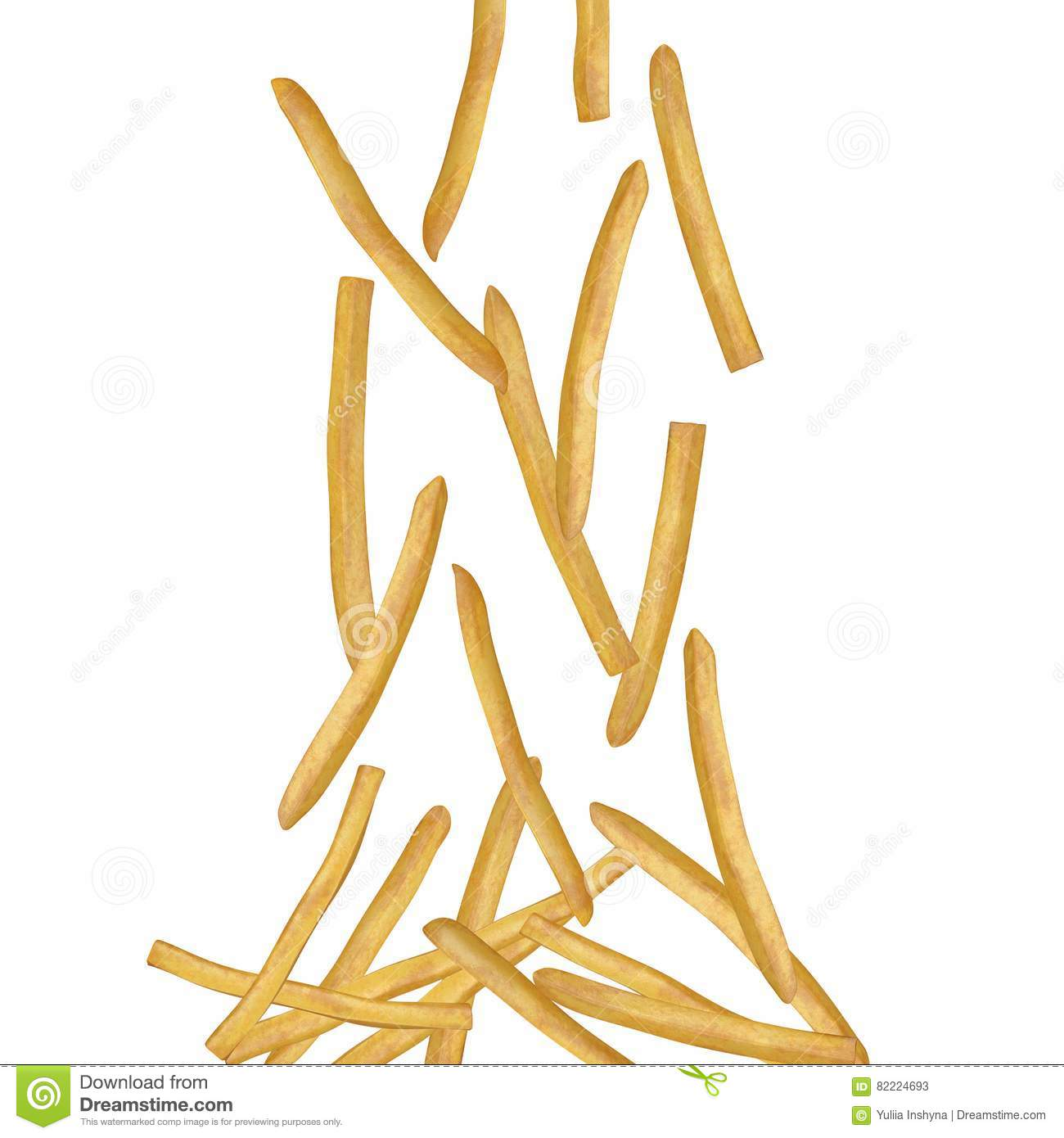 French fries - flying