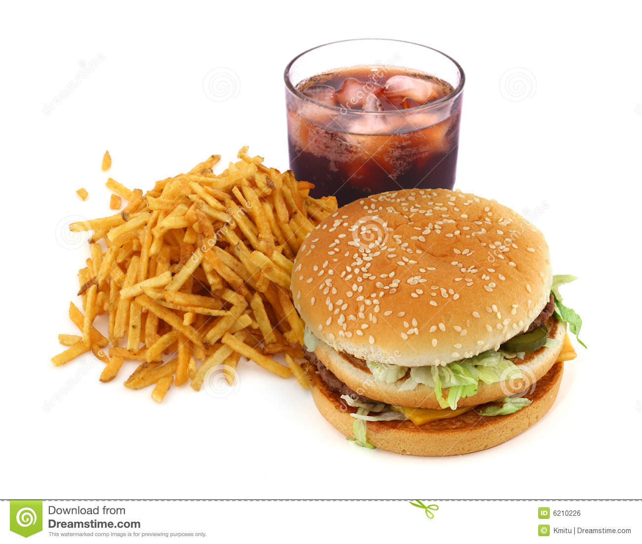 French Fries, Hamburger And Cola Stock Photo - Image of ...