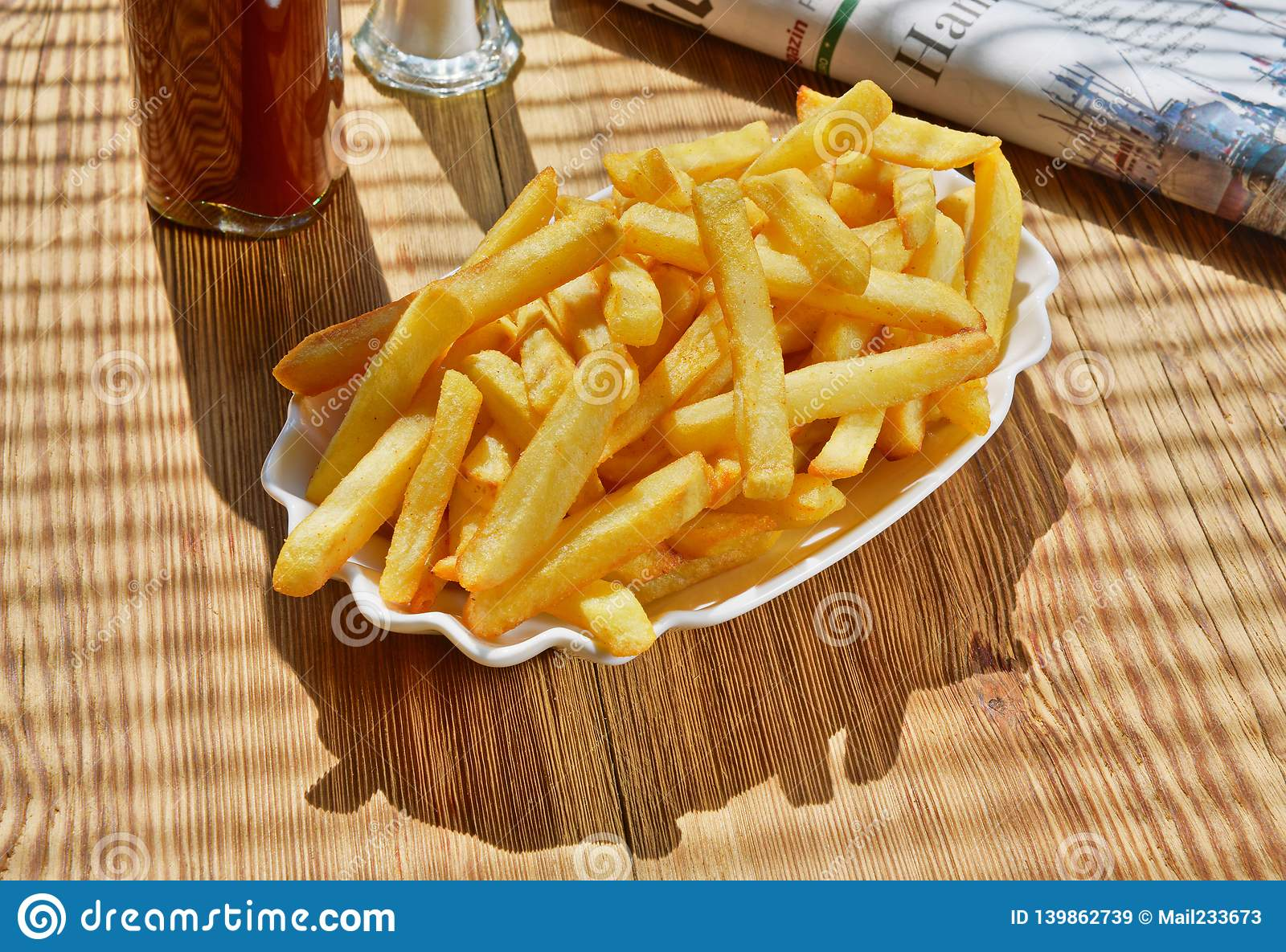 French Fries with Newspaper