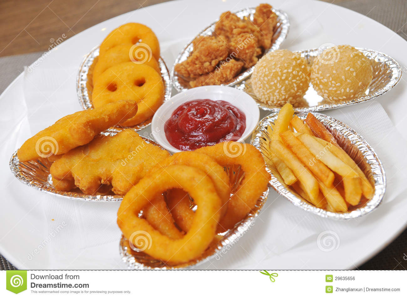 French Fries And Onion Rings. Royalty Free Stock Image - Image ...