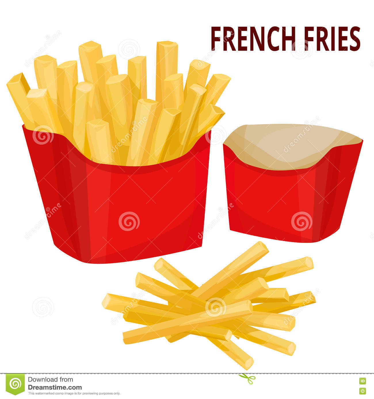 French fries, packaging