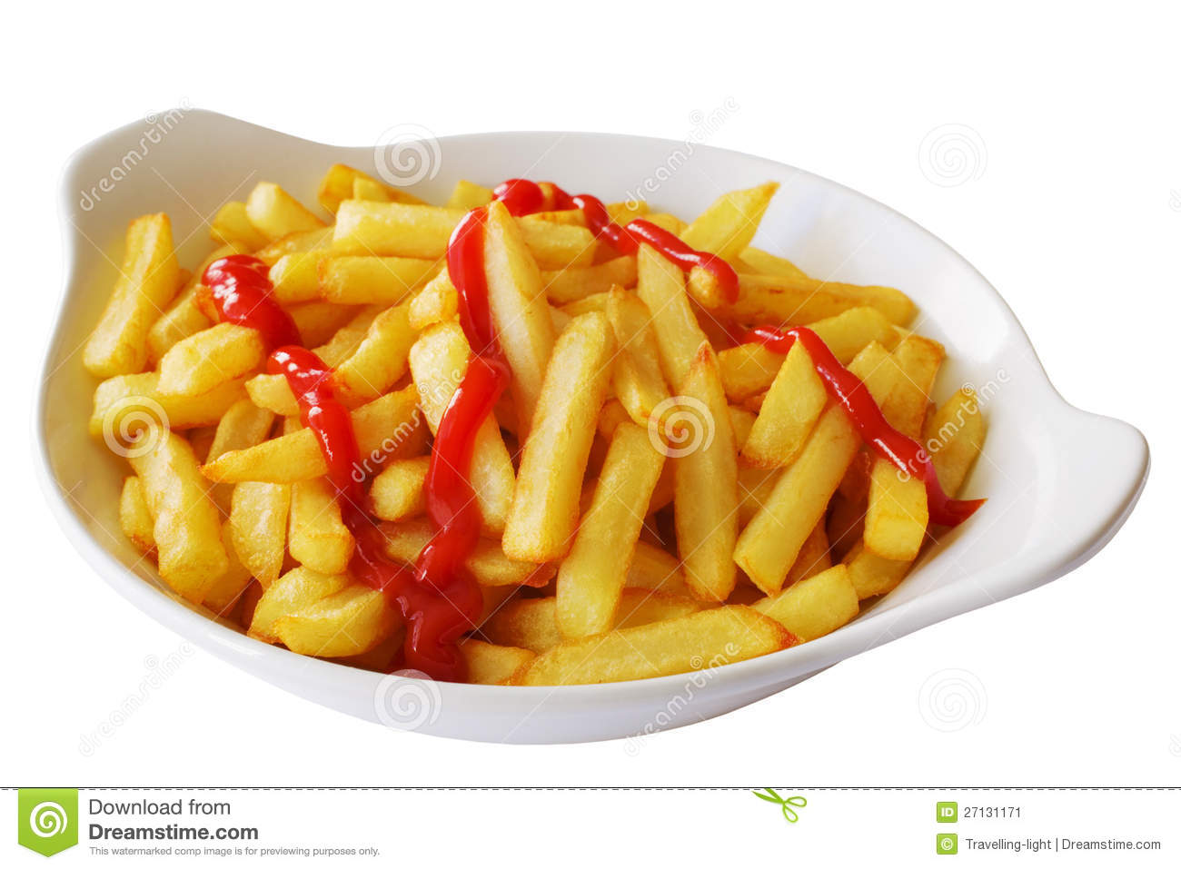 French Fries With Tomato Ketchup Stock Image - Image: 27131171
