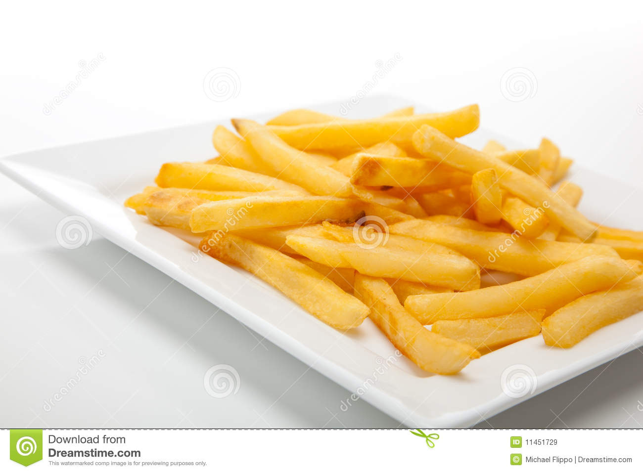 French Fries On A White Plate Royalty Free Stock Images ...