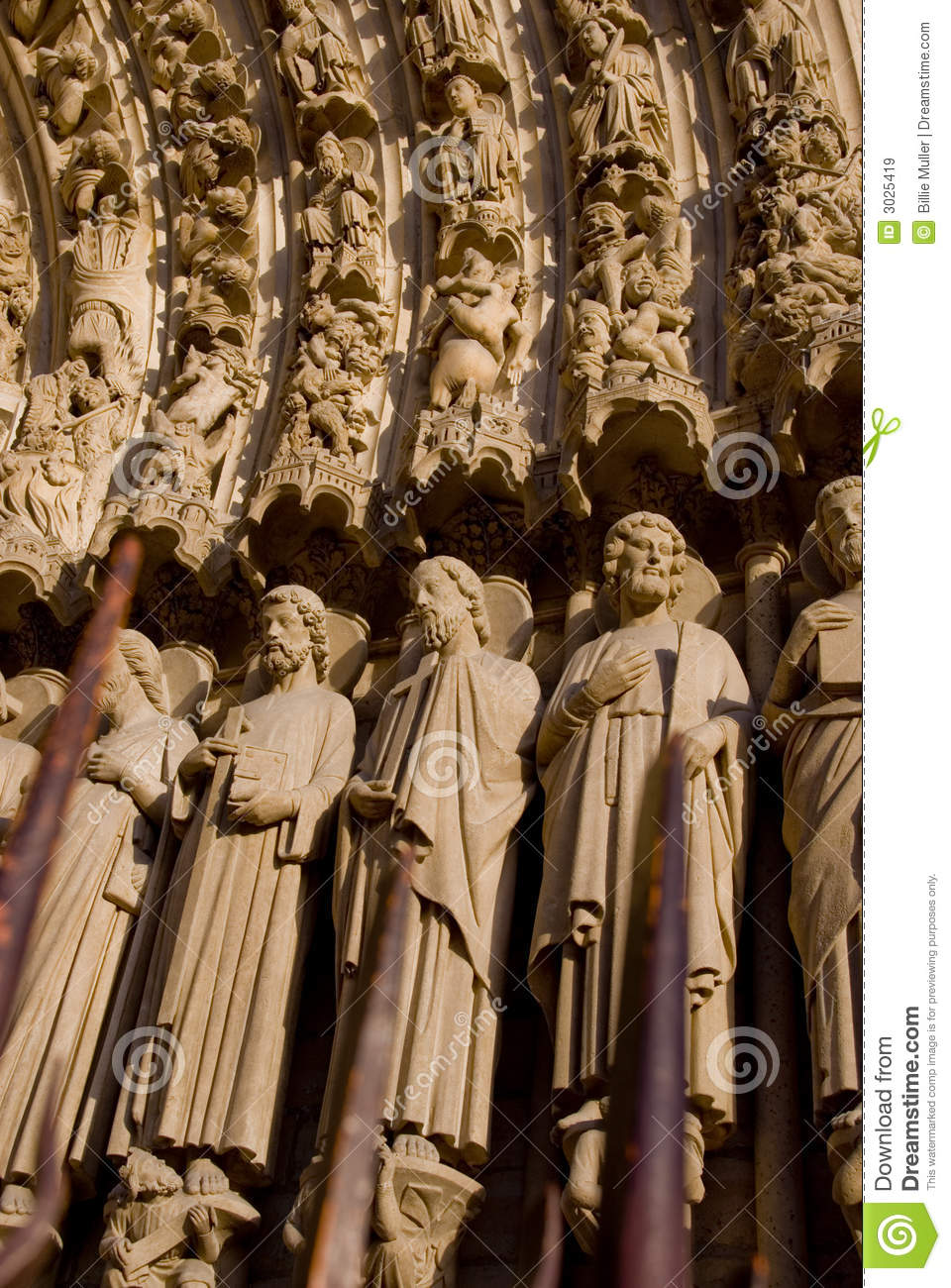 french gothic architecture stock image image of sculpture 3025419. Black Bedroom Furniture Sets. Home Design Ideas