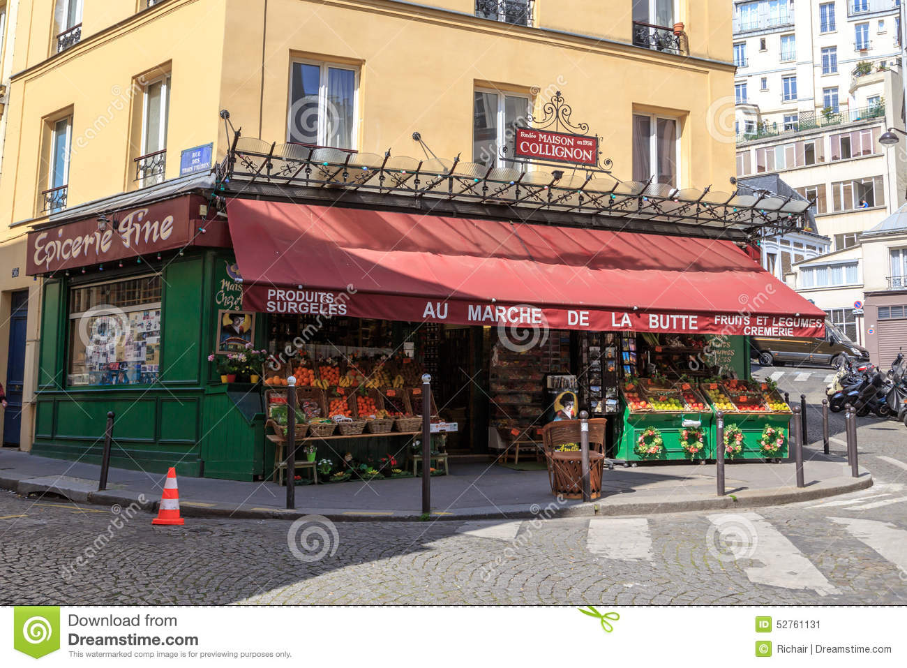French grocery store editorial photo  Image of famous - 52761131