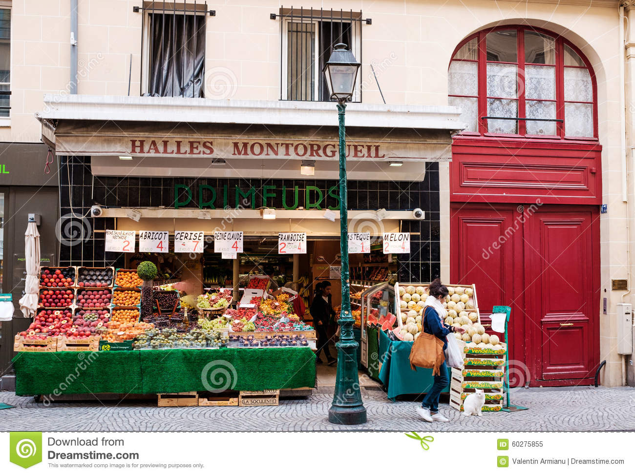 French grocery store editorial image  Image of neighborhood