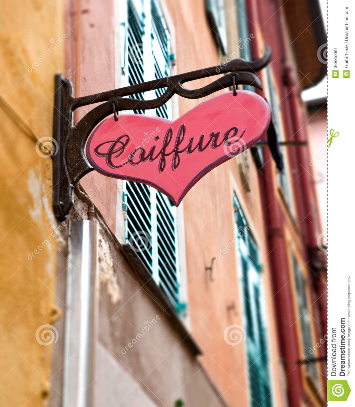 French Hair Salon Sign Stock Photo Image Of Coiffure 36885390
